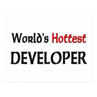 Worlds Hottest Developer Postcards