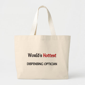 Worlds Hottest Dispensing Optician Large Tote Bag