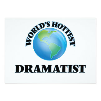 World's Hottest Dramatist Personalized Invite