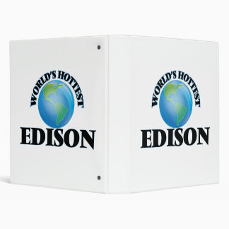 World's Hottest Edison 3 Ring Binders