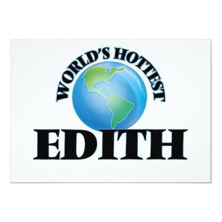 World's Hottest Edith 5x7 Paper Invitation Card