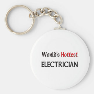 Worlds Hottest Electrician Keychain