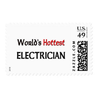 Worlds Hottest Electrician Postage Stamps