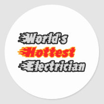World's Hottest Electrician Stickers