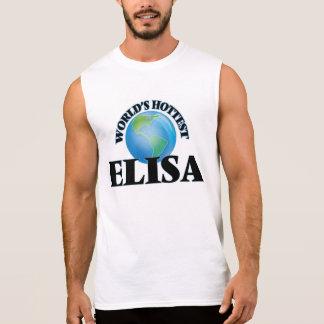 World's Hottest Elisa Sleeveless Shirts