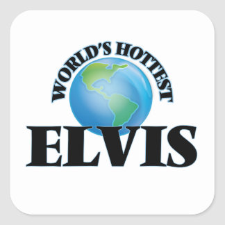 World's Hottest Elvis Square Stickers