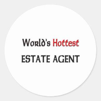Worlds Hottest Estate Agent Classic Round Sticker