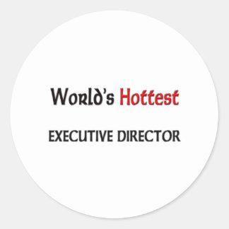 Worlds Hottest Executive Director Classic Round Sticker