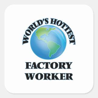 World's Hottest Factory Worker Sticker
