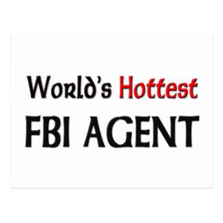 Worlds Hottest Fbi Agent Postcard