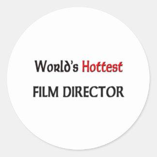Worlds Hottest Film Director Classic Round Sticker