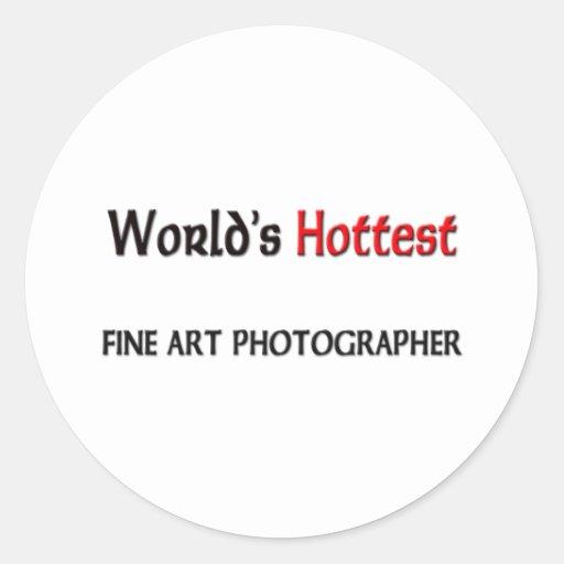 Worlds Hottest Fine Art Photographer Classic Round Sticker
