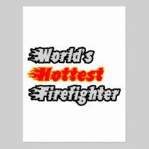 World's Hottest Firefighter Postcard