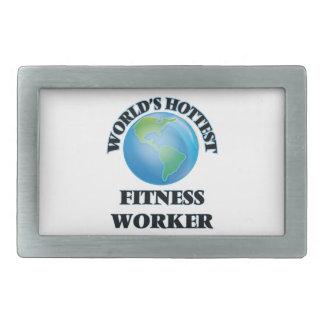 World's Hottest Fitness Worker Rectangular Belt Buckle