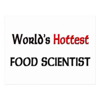 Worlds Hottest Food Scientist Postcard