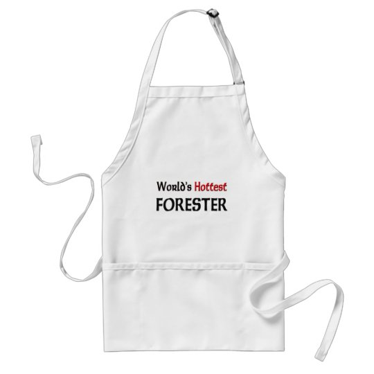 Worlds Hottest Forester Adult Apron