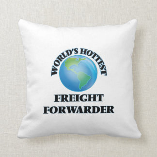 World's Hottest Freight Forwarder Throw Pillows