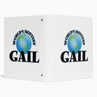 World's Hottest Gail 3 Ring Binder