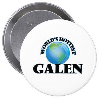 World's Hottest Galen Pinback Button
