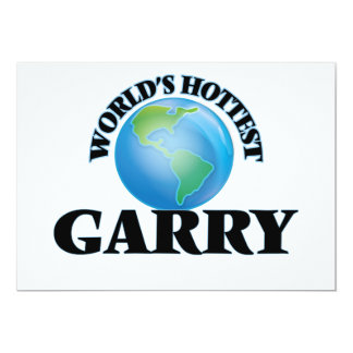 World's Hottest Garry 5x7 Paper Invitation Card