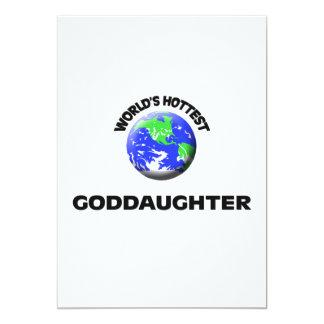 World's Hottest Goddaughter Custom Invites