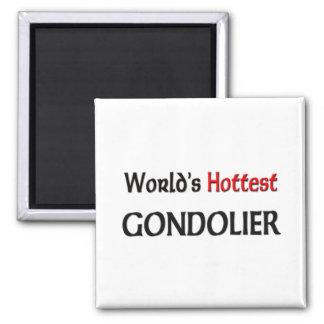 Worlds Hottest Gondolier 2 Inch Square Magnet
