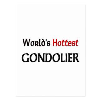 Worlds Hottest Gondolier Postcard