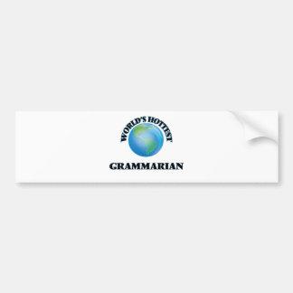 World's Hottest Grammarian Car Bumper Sticker