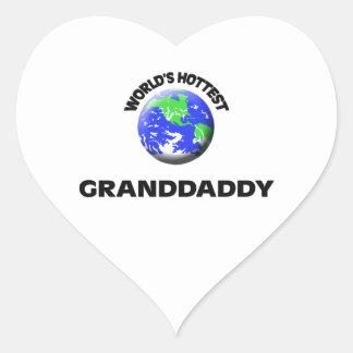 World's Hottest Granddaddy Heart Sticker