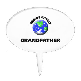 World's Hottest Grandfather Cake Toppers