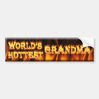 worlds hottest grandma bumper sticker