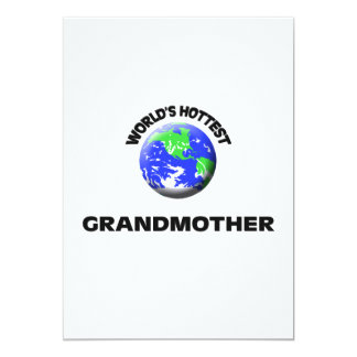 World's Hottest Grandmother Personalized Invitation