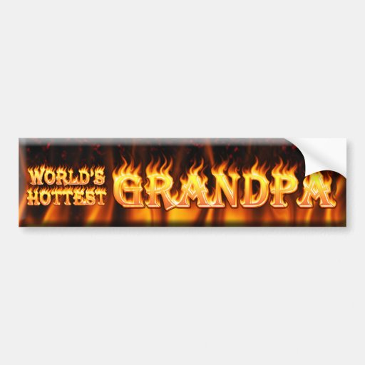 worlds hottest grandpa bumper sticker