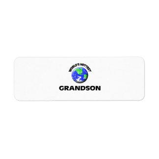 World's Hottest Grandson Return Address Label