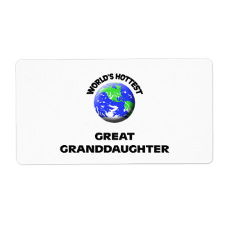 World's Hottest Great Granddaughter Shipping Label