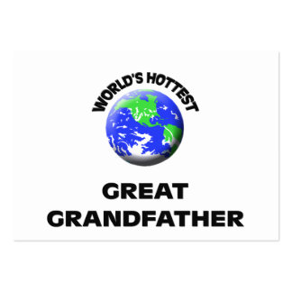 World's Hottest Great Grandfather Business Card Templates