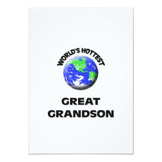 World's Hottest Great Grandson Custom Announcement