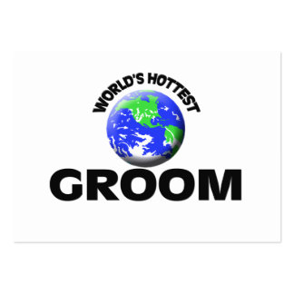 World's Hottest Groom Large Business Cards (Pack Of 100)