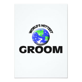 World's Hottest Groom Personalized Announcement