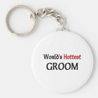 Worlds Hottest Groom Basic Round Button Keychain