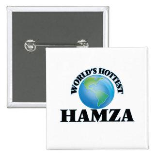World's Hottest Hamza Pinback Button