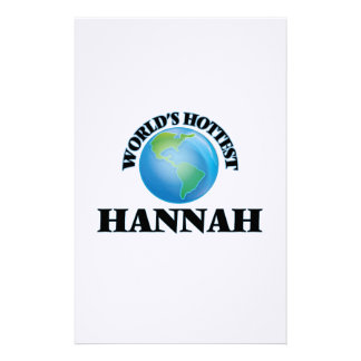 World's Hottest Hannah Stationery