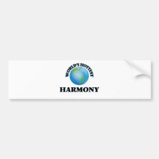 World's Hottest Harmony Bumper Sticker