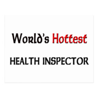 Worlds Hottest Health Inspector Post Card
