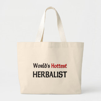 Worlds Hottest Herbalist Large Tote Bag