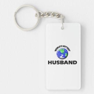 World's Hottest Husband Single-Sided Rectangular Acrylic Keychain