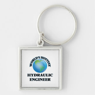 World's Hottest Hydraulic Engineer Silver-Colored Square Keychain