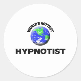 World's Hottest Hypnotist Round Sticker