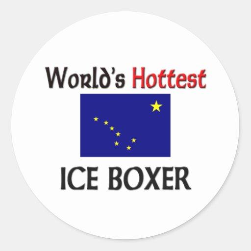 World's Hottest Ice Boxer Classic Round Sticker