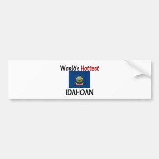 World's Hottest Idahoan Car Bumper Sticker